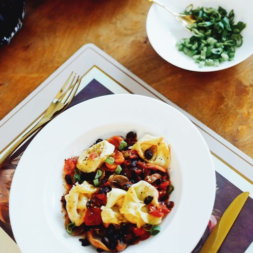 beef tortellini, vegetable ragout, recipe