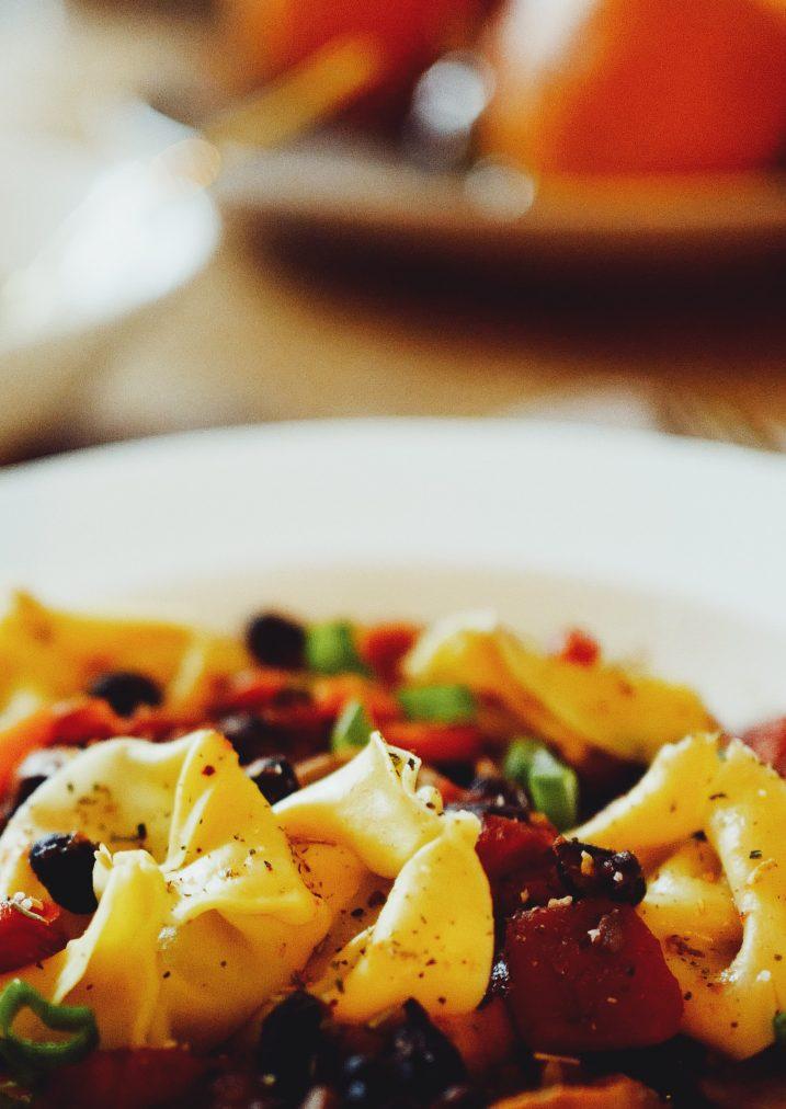 vegetable ragout with beef tortellini