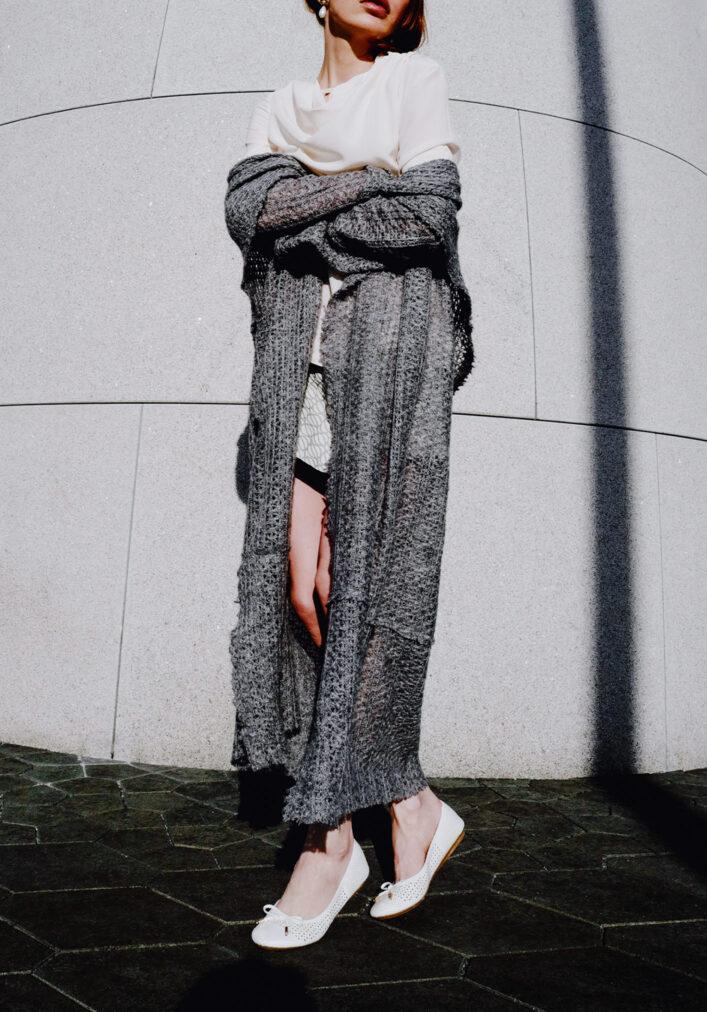 grey mini and long grey coat