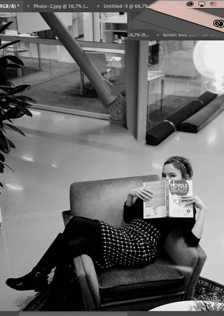 martha may reading book