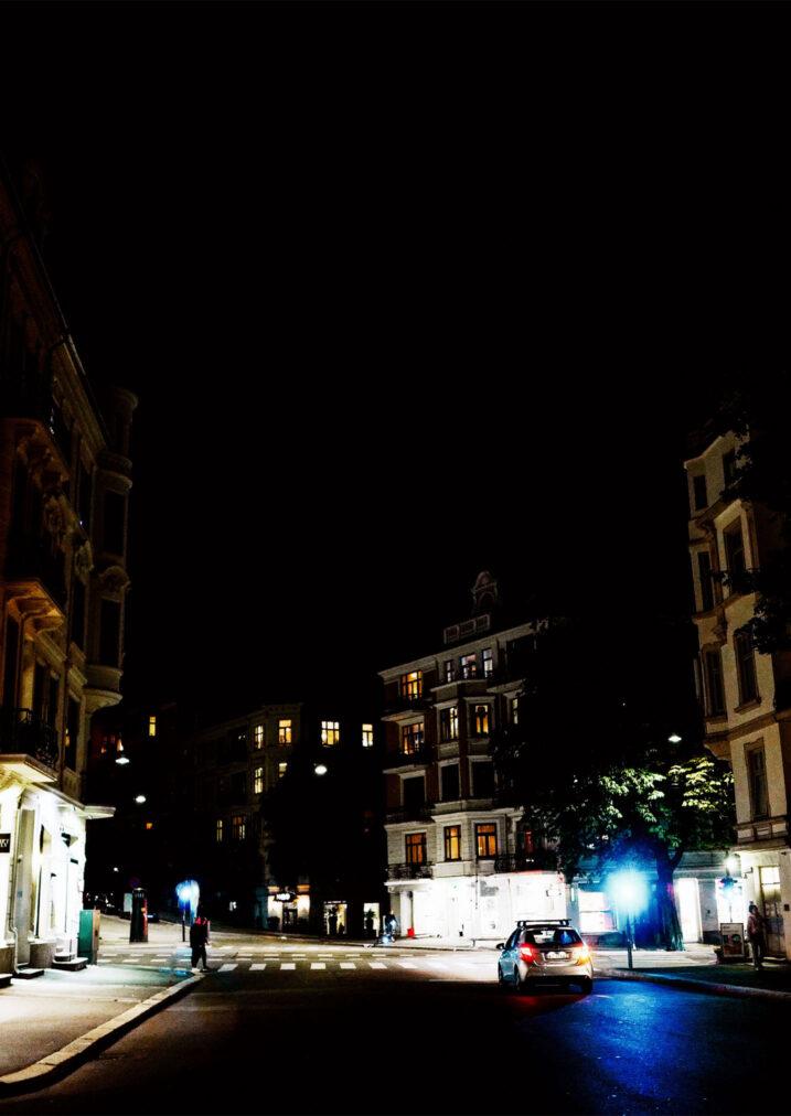 frogner street views at night oslo