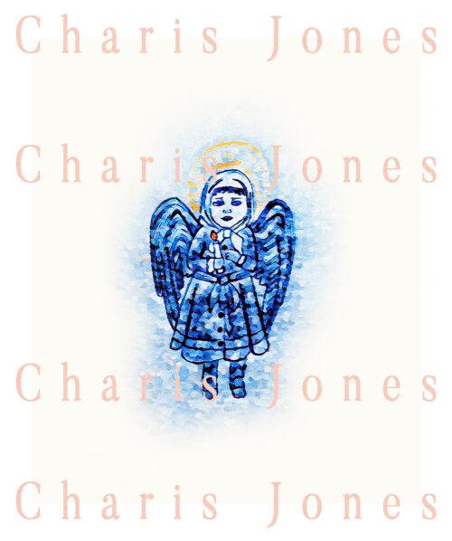 maymer 2020 christmas story little blue angel girl