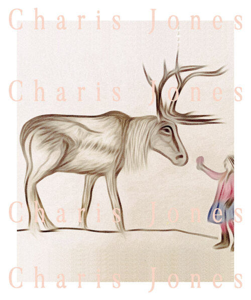 maymer 2020 christmas story beige reindeer and little girl