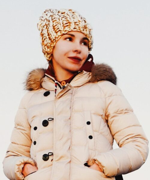 martha may portrait photo in winter jacket