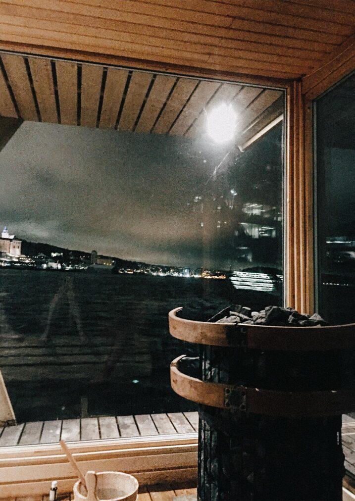 green boat sauna interior oslo